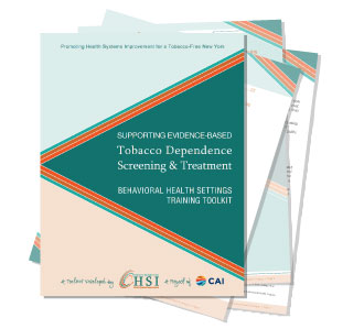 Evidence-Based Tobacco Dependence Screening & Treatment - Behavioral Health Settings Training Toolkit